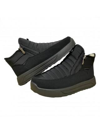 Ботинки женские зимние черные на молнии