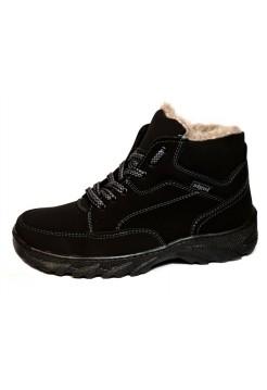 Зимние ботинки мужские Эко-нубук