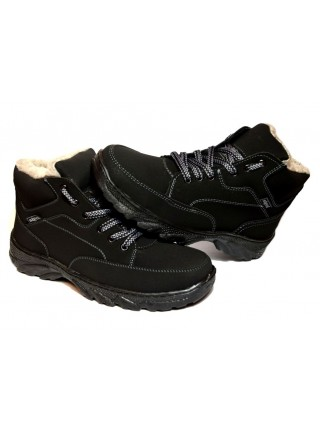 Ботинки мужские черные зимние