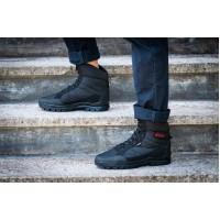 Ботинки берцы зимние мужские черного цвета